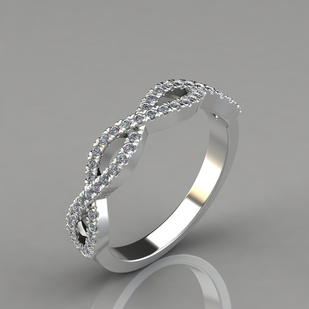 024ct infinity design wedding band ring puregemsjewels for Infinity design wedding ring