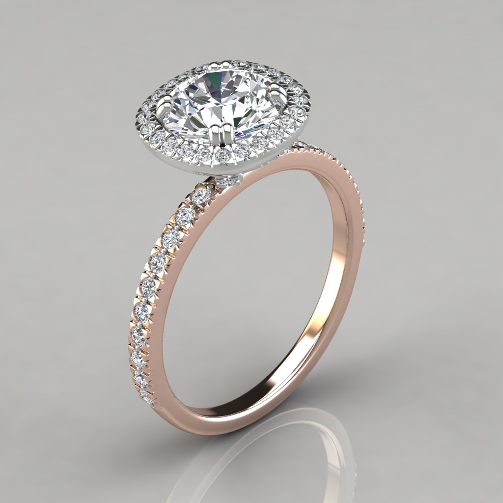 engagement media vintage diamond ctw simulants rose oval bridal set gold deco man made silver sterling art halo style plated ring