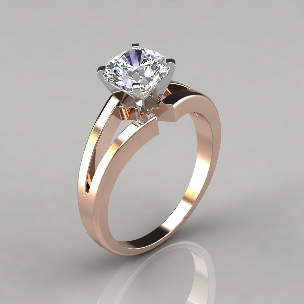 Looks - Gold Rose engagement rings cushion cut solitaire video