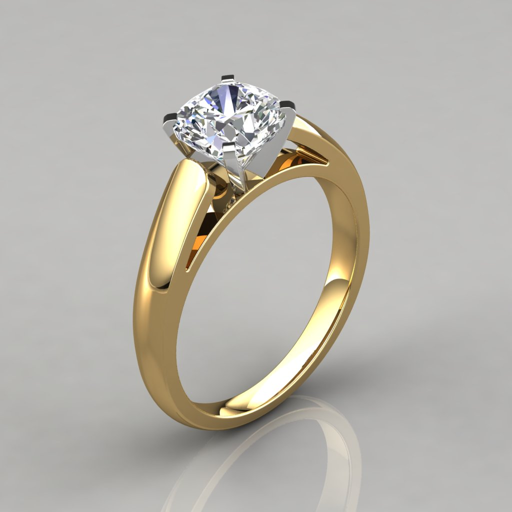 in rings trellis a yellow pear ring solitaire prong engagement enr diamond brilliant gold tapered pave five cathedral