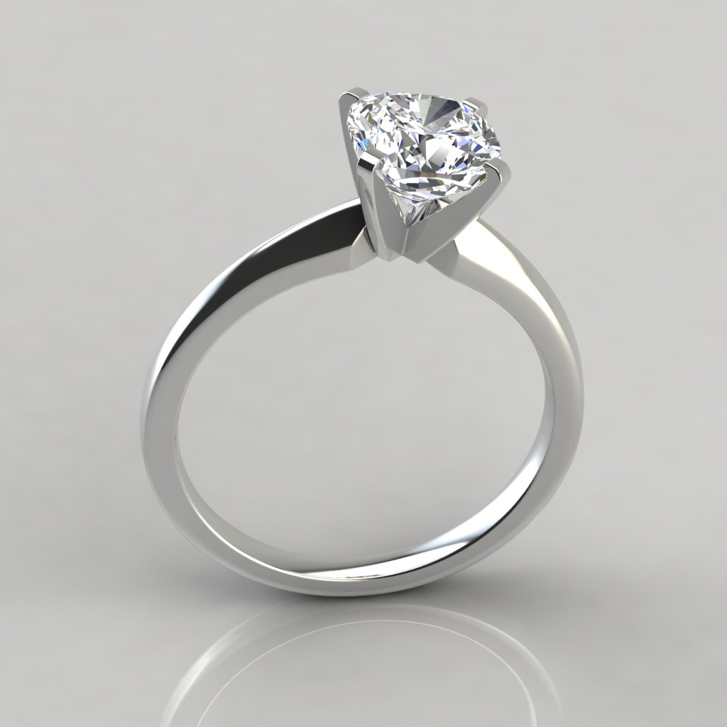 Classic Wedding Rings: Classic Cushion Cut Solitaire Engagement Ring