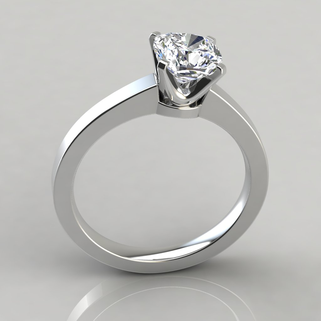 Novo Cushion Cut Solitaire Engagement Ring Puregemsjewels