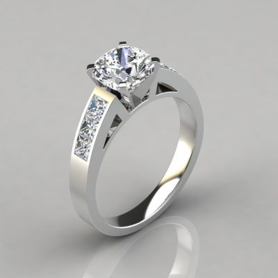 230w1-Channel-Set-Cushion-Cut-Lab-Diamond-Engagement-Ring-Pure-Gems-Jewels-White-Gold