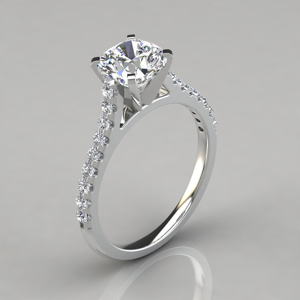 made product cushion pure gems jewels man engagement cathedral diamond white cut puregemsjewels rings gold tapered ring