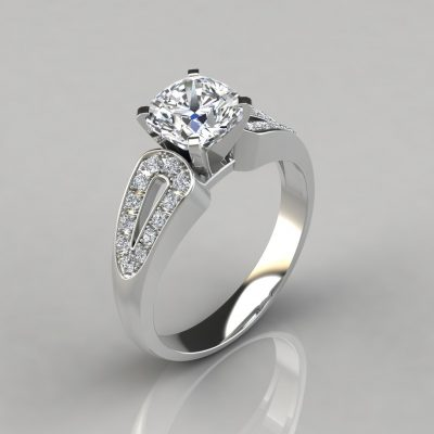 237w1-Split-Shank-Vintage-Design-Cushion-Cut-Engagement-Ring-White-Gold-Pure-Gems-Jewels