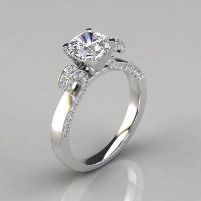 238w1-Vintage-Floral-Design-Cushion-Cut-Engagement-Ring-White-Gold-Pure-Gems-Jewels