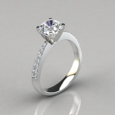 244w1-Tapering-Pavé-Cushion-Cut-Lab-Diamond-Engagement-Ring-Pure-Gems-Jewels-White-Gold