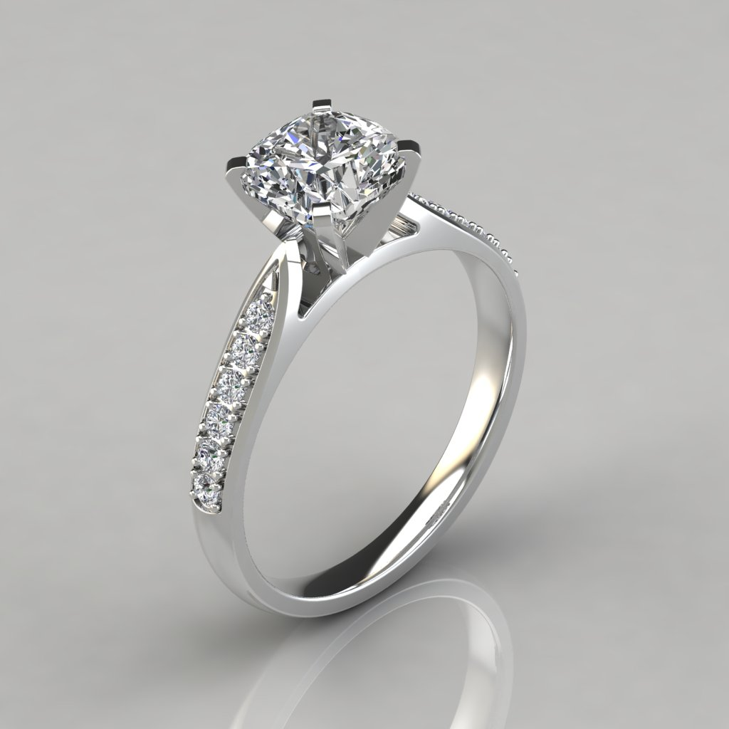 halo jewellery diamond rings amouria engagement ring cushion