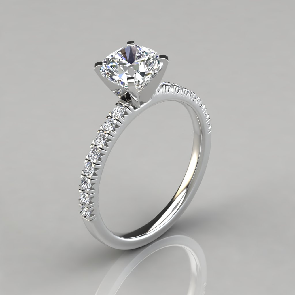Round Brilliant Engagement Ring With Halo