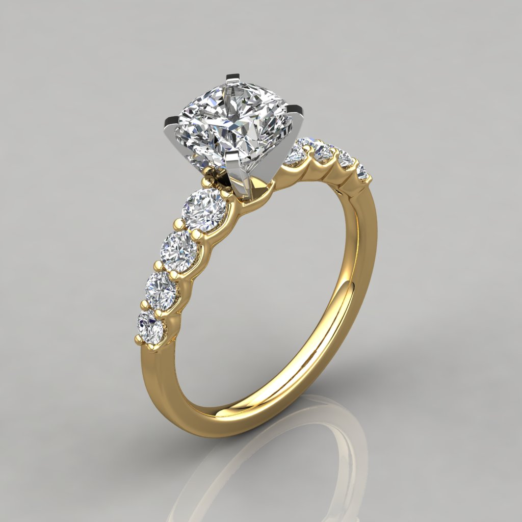 engagement cushion setting double jewellery halo products diamond moissanite rings cut img center ring julissa