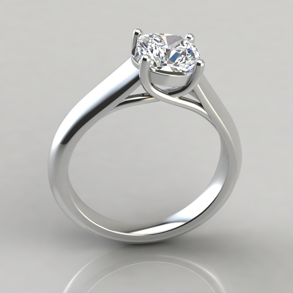 solitaire product ring engagement cut claw style side diamond princess view lucia lucida uk