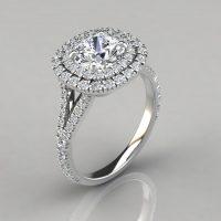 man made diamonds engagement ring
