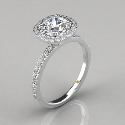 MAN MADE DIAMONDS ENGAGEMENT RING