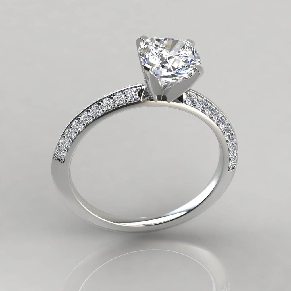 cushion cut engagement ring knife edge pave cushion cut engagement ring puregemsjewels 30504