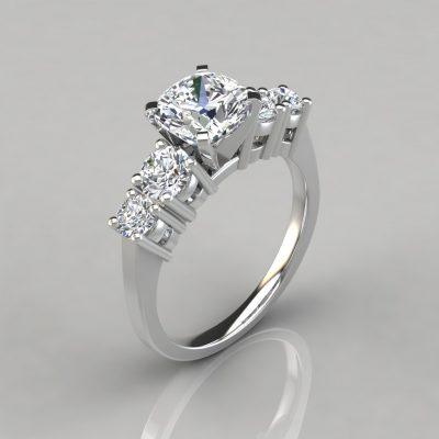 247w1-Five-Stone-Cushion-Cut-White-Gold-Engagement-Ring-Lab-Diamond