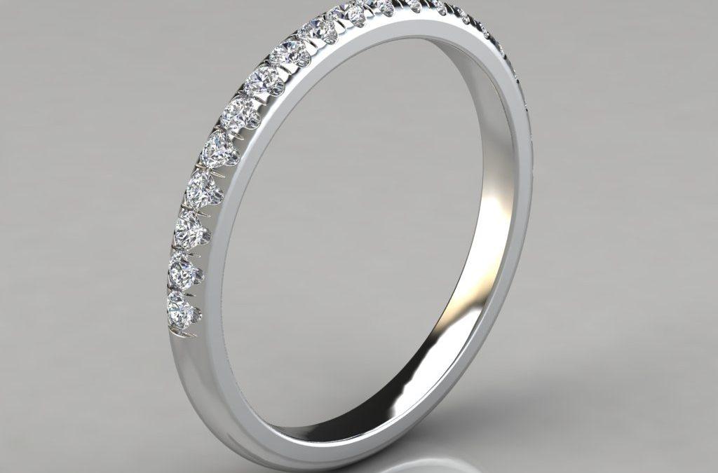 0.25Ct Round Cut Wedding Band Ring